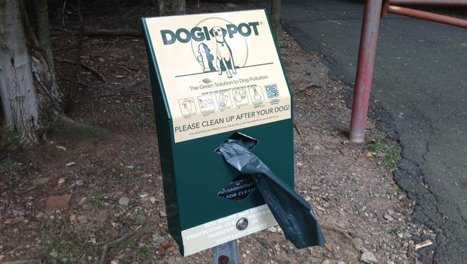 """""""Dogi Pots"""" dispensers and bags are once again available in Rockland County parks."""