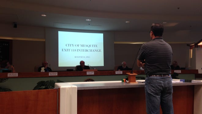City Engineer Travis Anderson address Council Tuesday