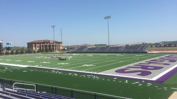 Bob Young Field's new turf