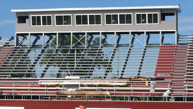 Toms River South's home bleachers get a facelift this summer