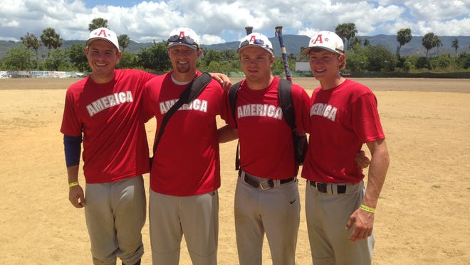 Brendan Sher, far right, was one of several American baseball players to make the trip to the Dominican Republic.