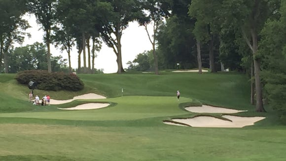 The sixth green on the East Course at Winged Foot.