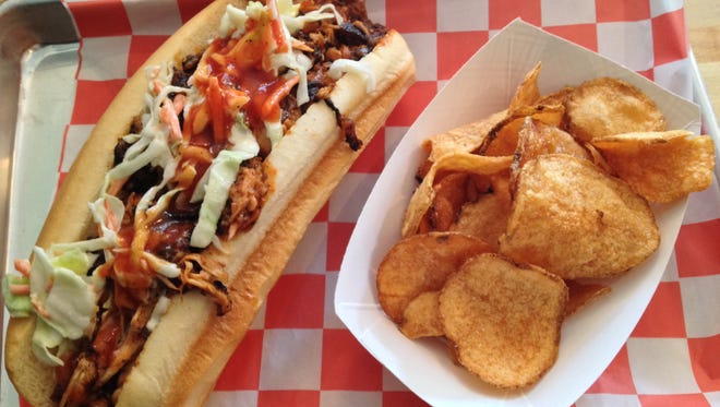 The Carolina sandwich with chips at Marty's on Park has smoky goodness throughout.