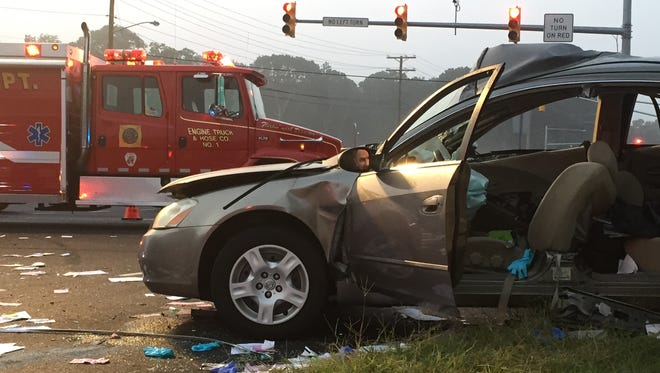 A Tinton falls man driving this Altima was killed after a crash Wednesday morning.