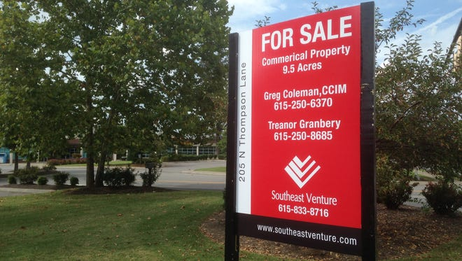 This for sale sign seeks a buyer for the YMCA property on Thompson Lane in Murfreesboro.