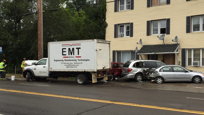 State police responded to a crash involving four vehicles Thursday on East Main Street in Endwell.