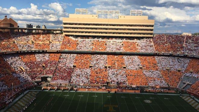 Neyland Stadium against Oklahoma