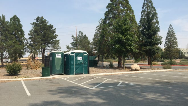 Rock Park in Sparks has temporary bathrooms, but Sparks City Council has voted to approve construction for new, permanent facilities.