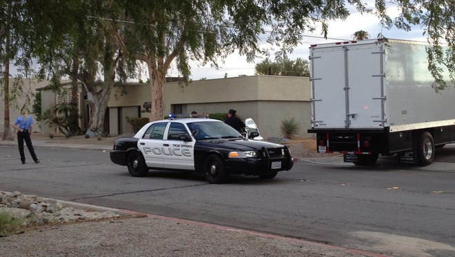 A body was found hanging from a tree outside a business near Vella Road and Camino San Miguel.