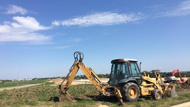 Construction is underway on a 100,000-square-foot industrial building in the Airport Commerce Park South. It's the first new development in the park in years.