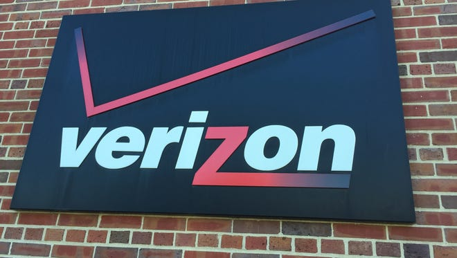 Verizon sign in Red Bank.
