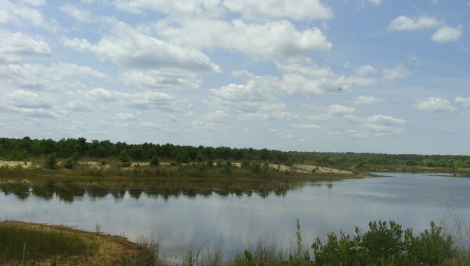 A lake on the New Jersey Pulverizing Company site. The Ocean County Board of Freeholders will purchase the property for $11.2 million.