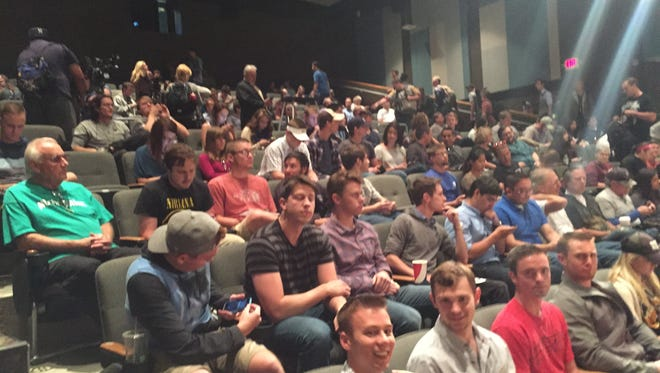 More than 200 students showed up to the University of Nevada, Reno Thursday to hear presidential candidate Sen. Rand Paul speak.