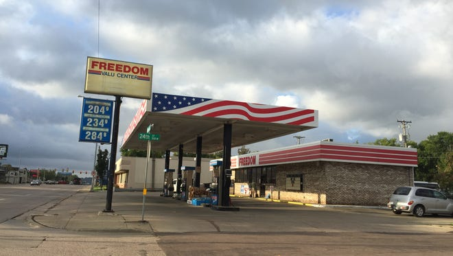 Freedom Value Center at 1601 S. Minnesota Ave., was robbed early Thursday, Sept. 17, 2015.