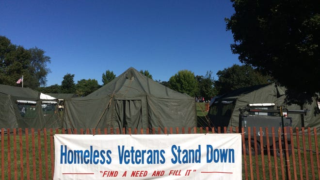 Hundreds gathered Saturday for free services and resources in Des Moines at the annual Homeless Veterans Stand-Down event just east of the Iowa State Capitol.