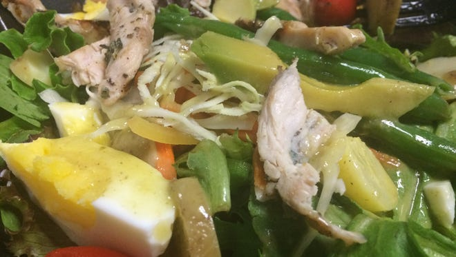 The Swiss Salad is $10.50 from The Standard, $16.50 with grilled chicken. The restaurant opened in downtown Fort Myers just last week.