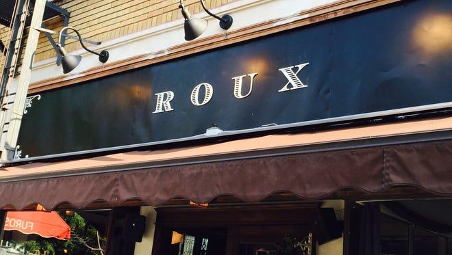 Roux's sign on Park Avenue.