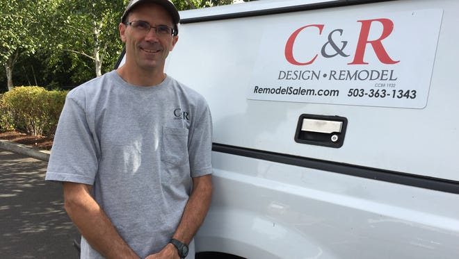 Mark Meyer, project manager and lead carpenter for C&R Design and Remodel