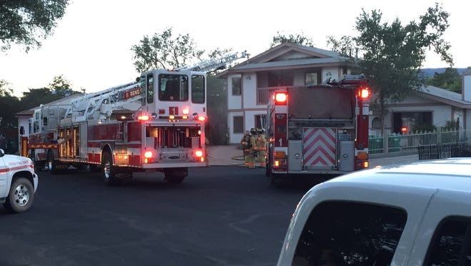 The Reno Fire Department is responding to a call an attic fire near the University of Nevada, Reno.