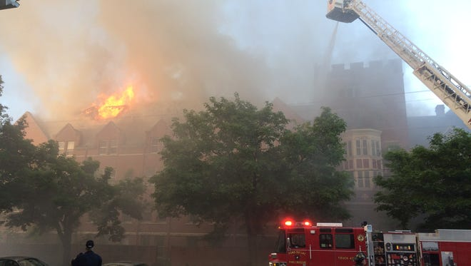 The Sisters of the Holy Nativity Convent was ablaze June 5. The owner of the building has been ordered to make repairs.
