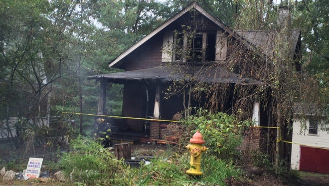 A fire early Saturday gutted this home on the 100 block of Tacoma Circle.