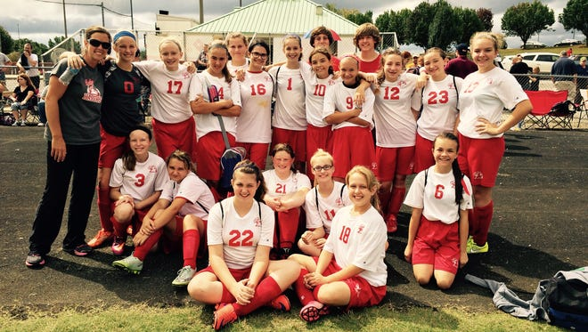 The Charlotte/William James Middle girls soccer team finished the season with the program's best record, 3-7 conference/4-7 overall.