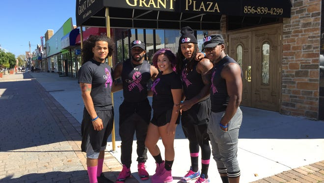 Dreams to Reality fitness crew, (left to right) Steven Ribot, Rich White Jr. , Breanna Ortiz, Rickey Hinds and Nate Offer,  are hosting a Breast Cancer fund raiser Friday evening. Grant Plaza has donated the use of their Landis Avenue nightclub as the venue.