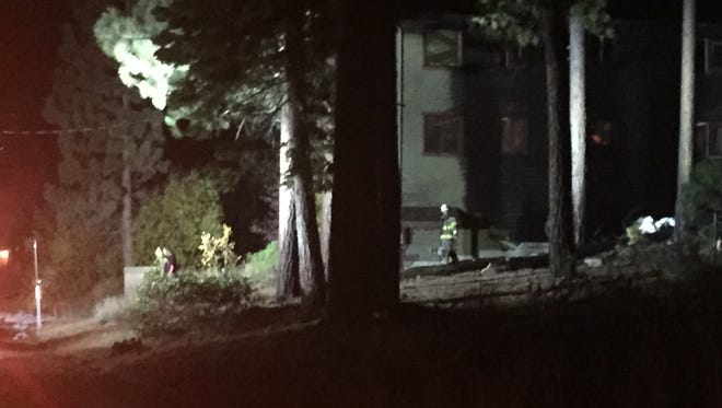 A plane crashed into a home in South Lake Tahoe on Saturday, Oct. 10, 2015.