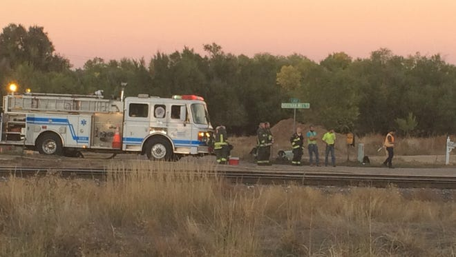 At least 1,700 gallons spilled from a locomotive near Lemay and Riverside avenues Tuesday evening.