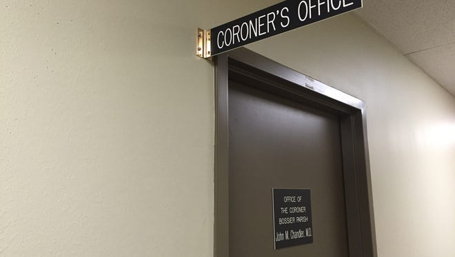 The Bossier Parish Coroner's Office keeps paper files of documents.