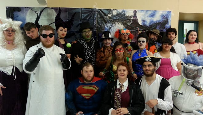 Characters from last year's Doña Ana Community College (DACC) Creative Media Technology (CMT) Haunted House.