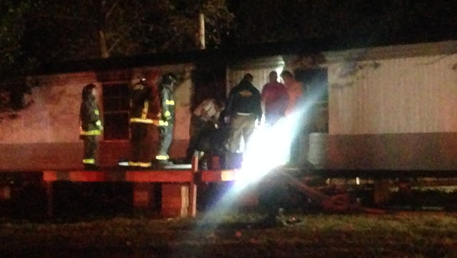 Gibson County Fire Department, Gibson County Sheriff's Office, and Bomb and Arson are investigating an arson Tuesday, Oct. 13, 2015 in Gibson County.