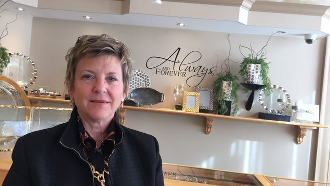 Gina Mowry-McHugh is the president of The Goldsmith, located inside the Kilmer Building, 31 Lewis St., Binghamton.
