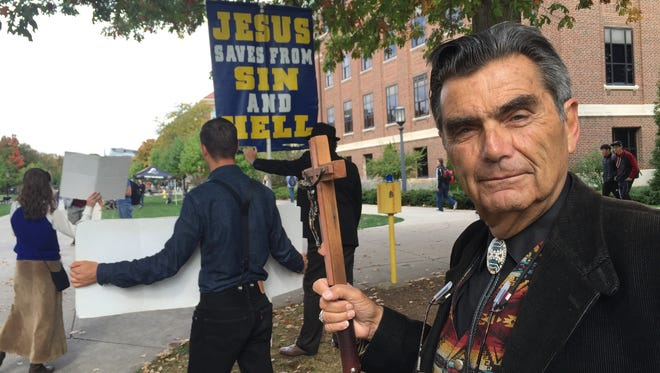 Brother Jed Smock and his Campus Ministry USA spent several weeks at Purdue University, preaching about the perils of hell and calling out students as whores and sinners.