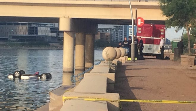Glenn Edward Baxter, 27, intentionally drove his SUV into Tempe Town Lake in October, killing himself, his wife and their three children, ages 1, 2 and 3 years old. Investigators determined the couple were separated at the time of the incident. Police called it one of the most horrific events in recent memory in Tempe.