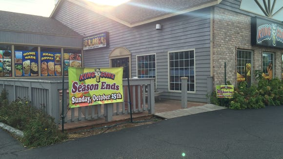King Cone, 2534 Post Road in Plover, has announced that Oct. 25 will be its last day this season.