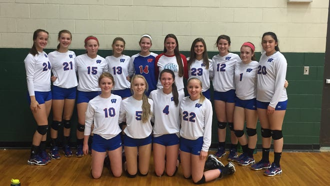 The West Henderson junior-varsity volleyball team.