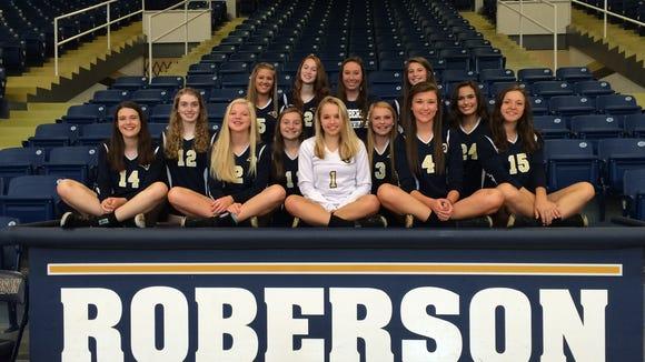 Roberson's junior-varsity volleyball team.