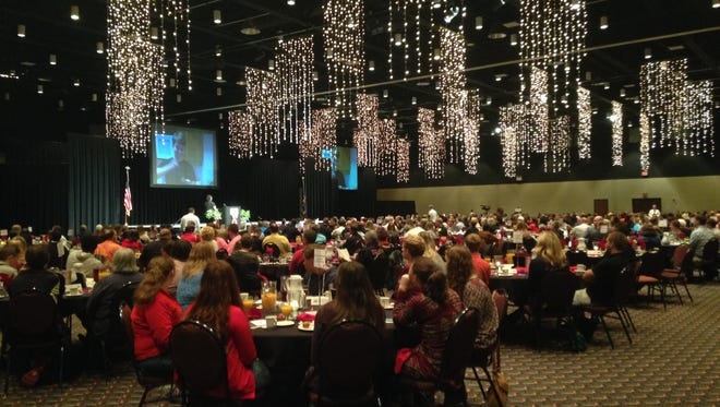 About 600 people attended the Delaware County Prevention Council's Red Ribbon Community Breakfast on Oct. 23. The event kicked off Red Ribbon week.
