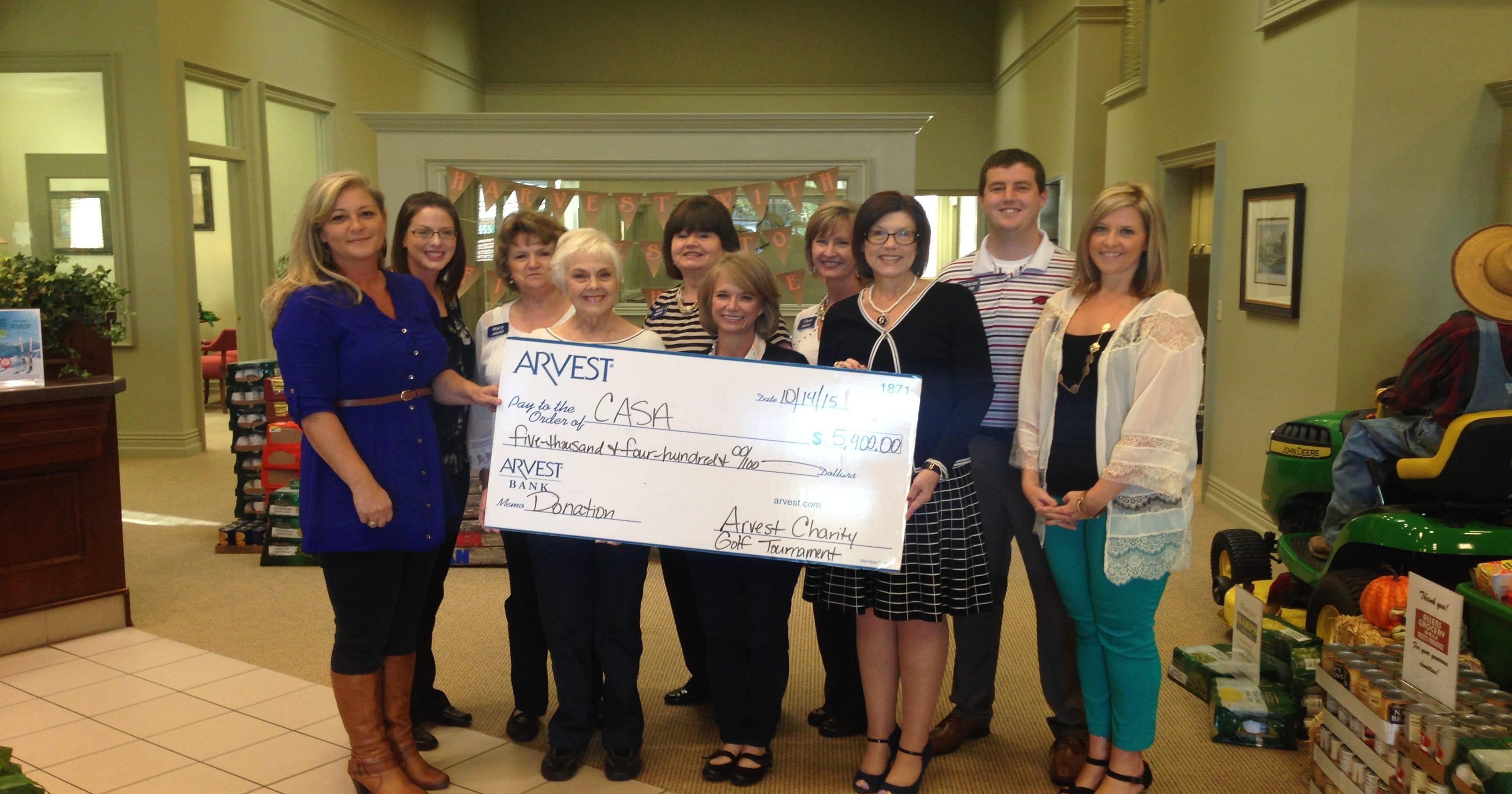 Arvest Bank awards golf proceeds