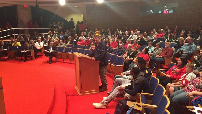 A packed house of residents and supporters of two McMorran Pavilion purchase proposals filled meeting chambers during a public hearing at Monday's Port Huron City Council meeting.