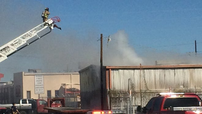 A building in the 400 block of S. Main Street has caught fire.