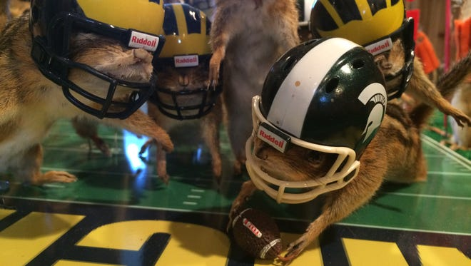 A tiny rodent re-enacts Jalen Watts-Jackson's winning touchdown.