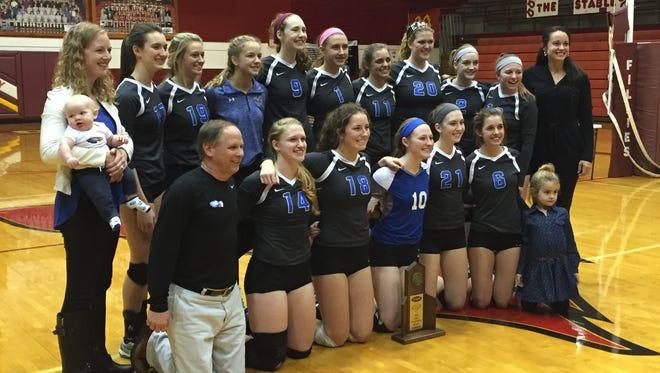 The Scott volleyball team - 10th Region champions.