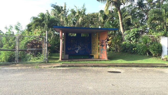 This bus stop in Latte Heights, Mangilao, is available for adoption through the Islandwide Beautification Task Force. Those interested in the Adahi I Tano Program, Guam Seal Bus Stop Program, the Roadway Adoption Program, or other IBTF projects can call 475-9383 or email lt.ibtf@guam.gov for more information.