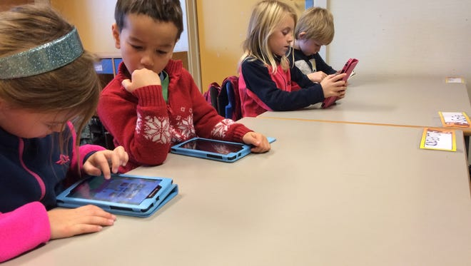 Students at Berger School in Nesoddtangen, Norway, try out a new math video game. Schools here are embracing education technology as a way to help shift away from an economy that has traditionally been heavily reliant on oil and gas.