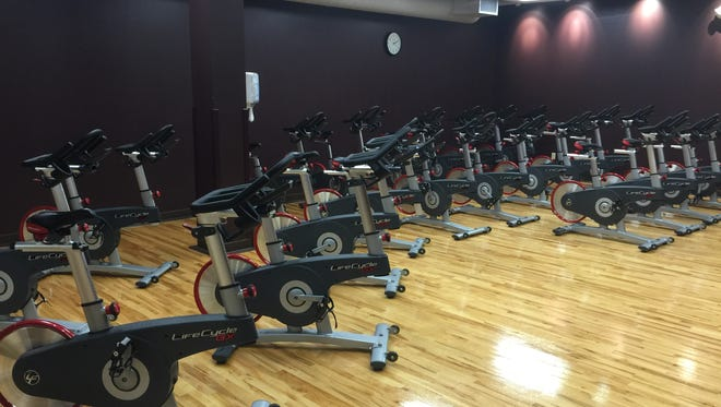 New exercise bikes were added to the YMCA for spin classes.