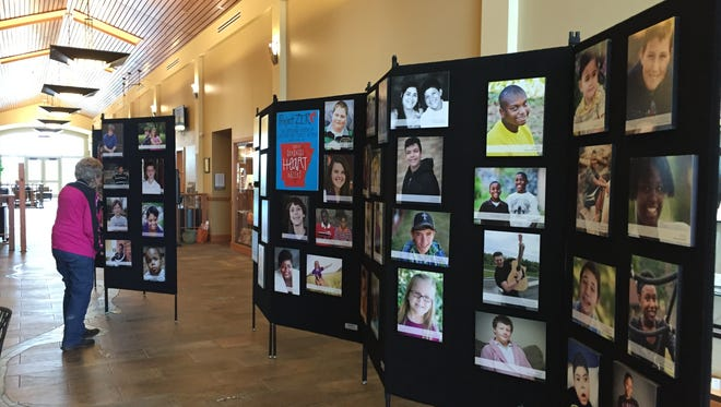 The Project Zero Heart Gallery is on display this month at the Donald W. Reynolds Library in Mountain Home.