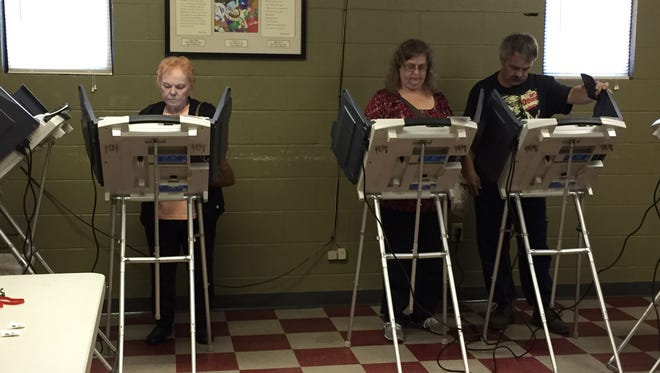 Voters cast their ballots at the Zanesville Civic Center on Jackson Street.