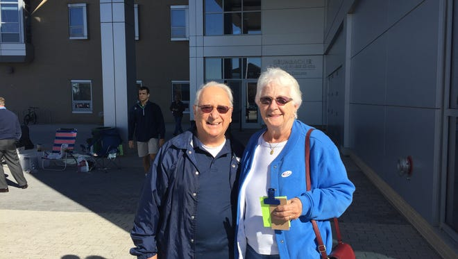Al and Beverly Ventrice voted Tuesday at the York College Grumbacher Sports and Fitness Center.
